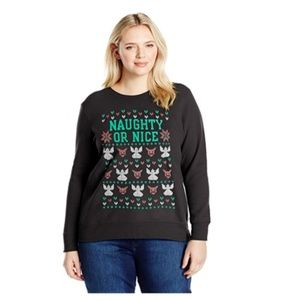 Women's Ugly Christmas Sweater Naughty Or Nice 4XL